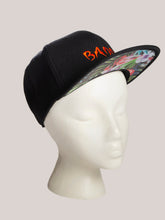 Load image into Gallery viewer, BADD Flower Print Snapback Black