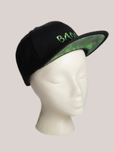Load image into Gallery viewer, BADD Marijuana Print Snapback Black