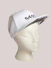 Load image into Gallery viewer, BADD Flower Print Snapback White