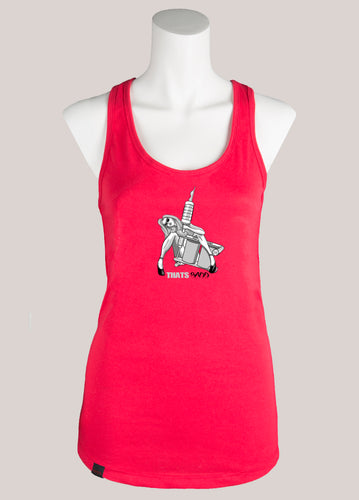 TAT GUN GIRL Women's Tattoo Racerback Tank