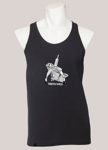 TAT GUN GIRL Men's Tattoo Tank Black