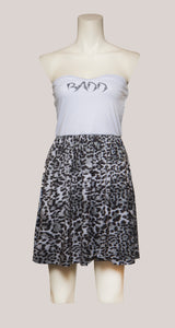 BADD Leopard Print Strapless Dress