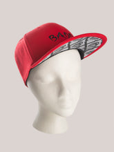 Load image into Gallery viewer, BADD Skull Snapback Red