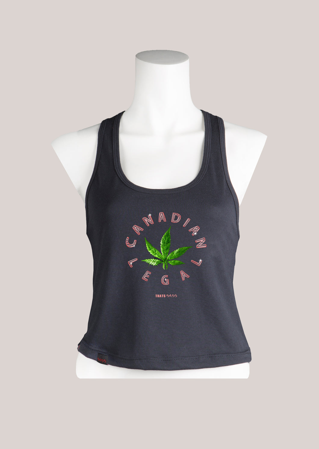 CANADIAN LEGAL Women's Marijuana Cropped Tank