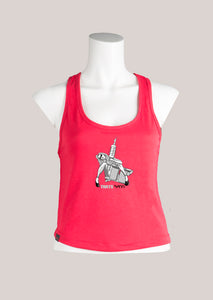 TAT GUN GIRL Women's Tattoo Cropped Tank