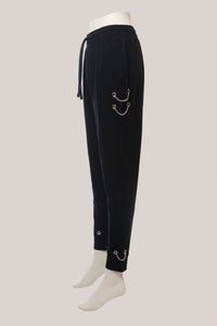 BADD Logo Women's Chain Sweatpants Black