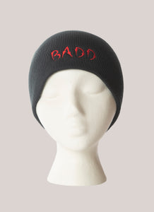 BADD Skull Cap Black-Red Logo