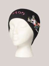Load image into Gallery viewer, BADD Flower Print Bow Skull Cap Black