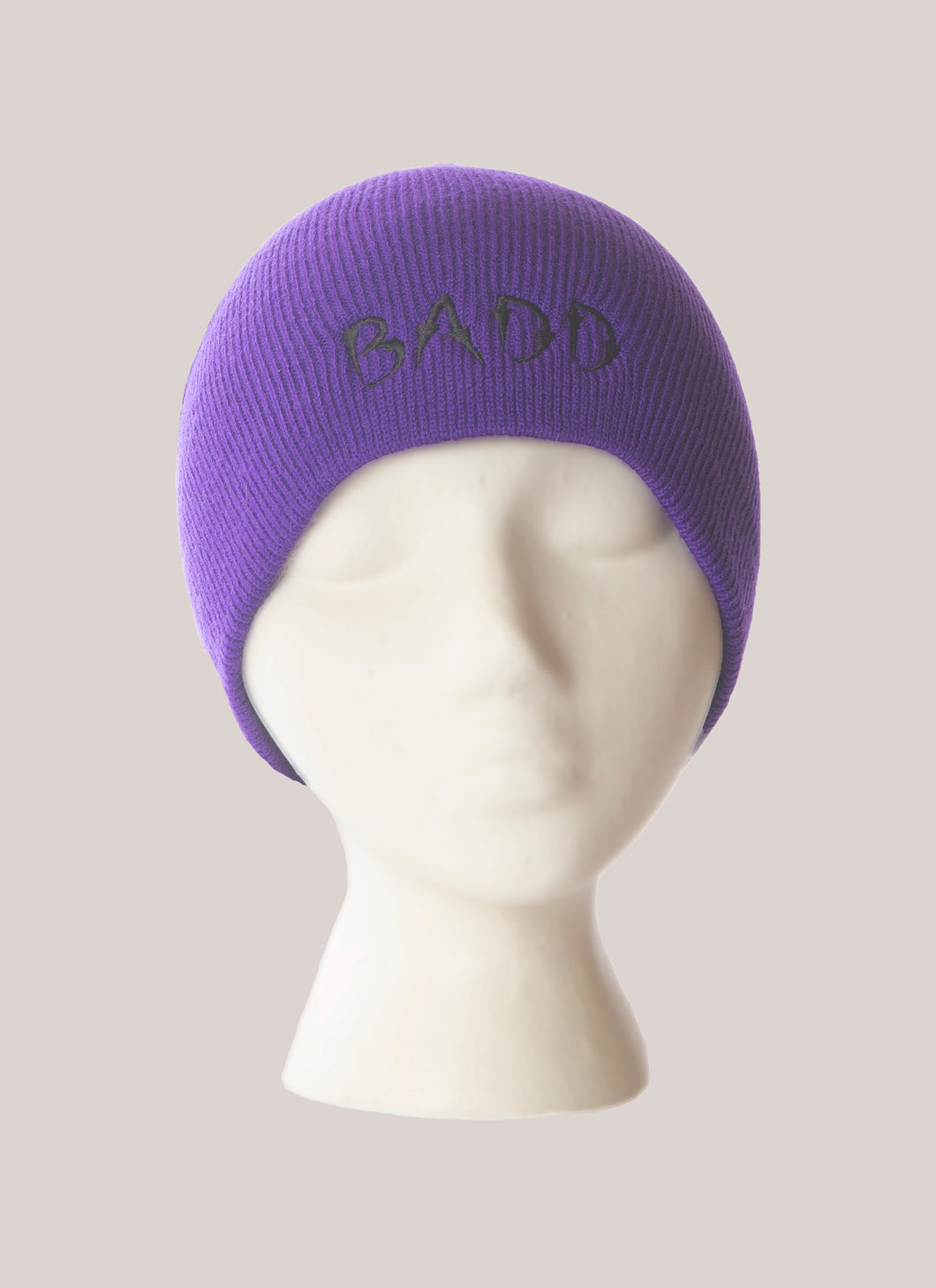 BADD Skull Cap Purple-Black Logo