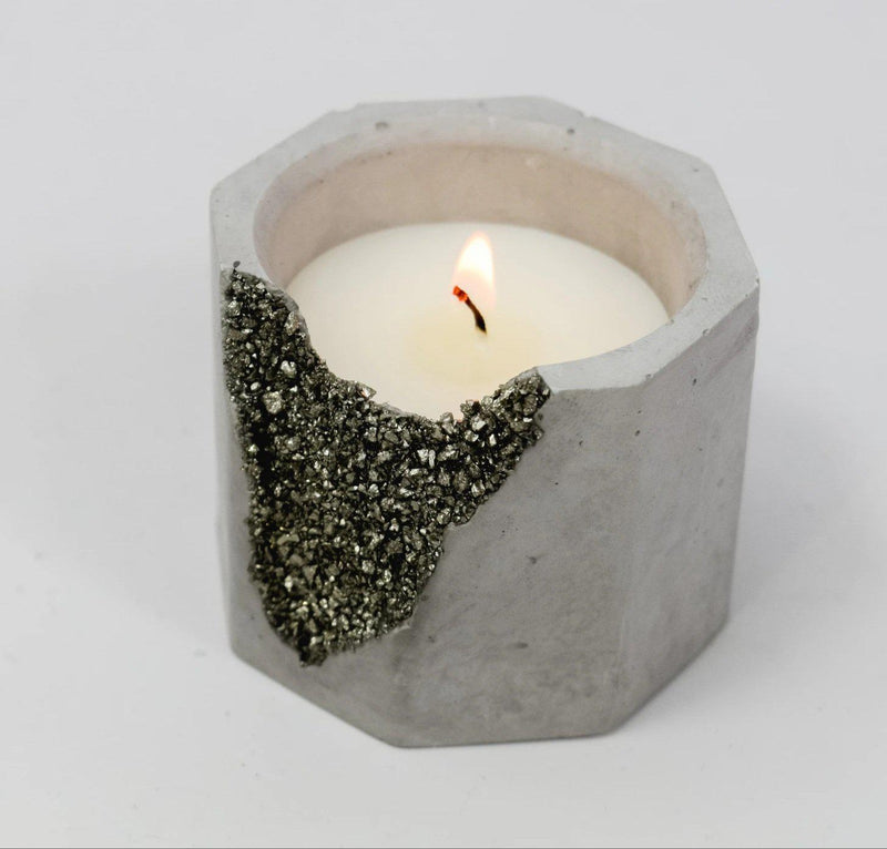 Bourbon and Tobacco Pyrite Candle - Stella and Bobbie