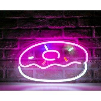 Yummy Donut Neon Sign By Stella and Bobbie - Stella and Bobbie