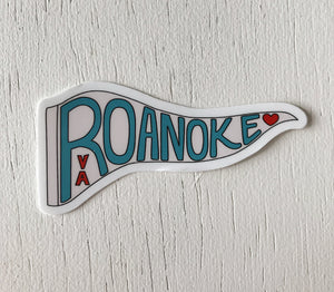Roanoke Pennant mini Stickers