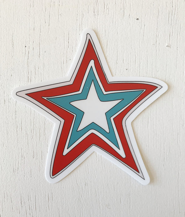 Roanoke Star Sticker