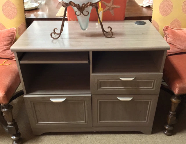 3 Drawer Wood Filing Cabinet