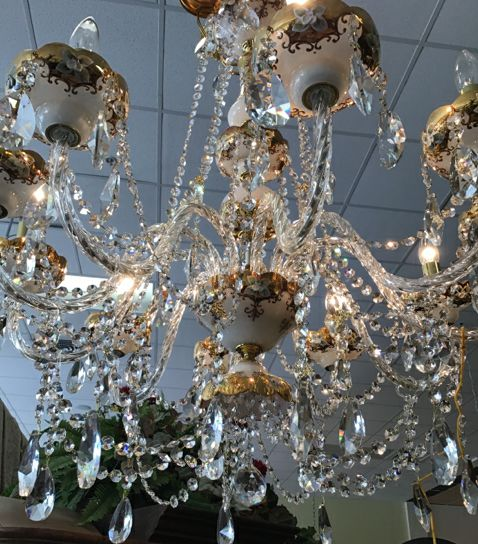 Penelope Chandelier With Ornate Designs & Crystals