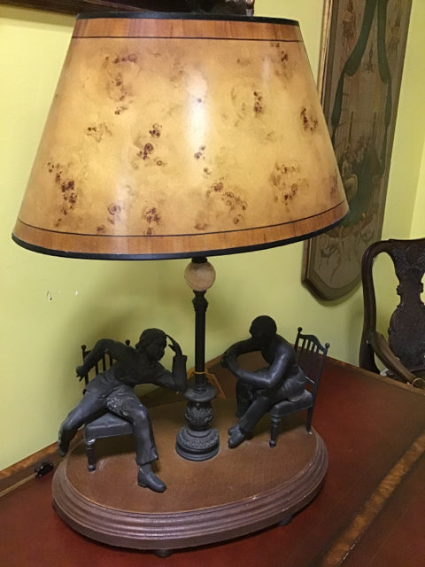 Theodore Alexander Bronze Men Lamp