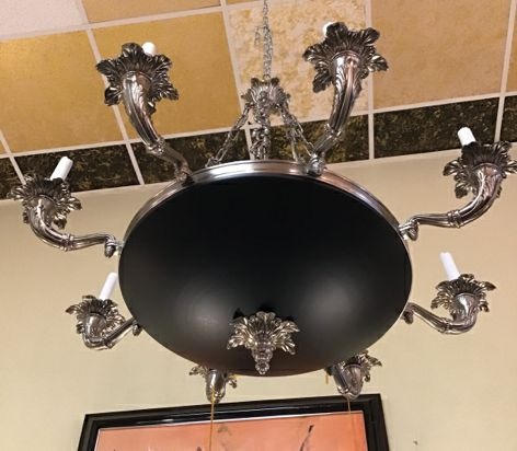 Traditional Pewter Chandelier