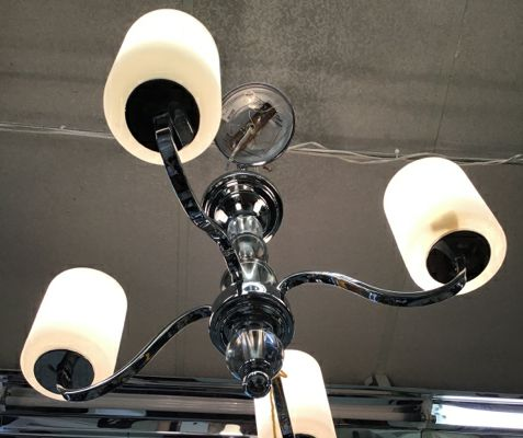 Four Arm Lucite Chandelier