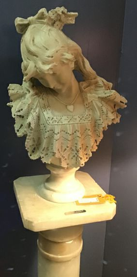 Lady of York Marble Bust Sculpture