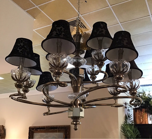 Maitland Smith Gold & Black Chandelier