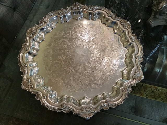 Chippendale Round Serving Platter