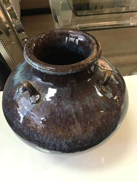Glazed Blue and Brown Urn