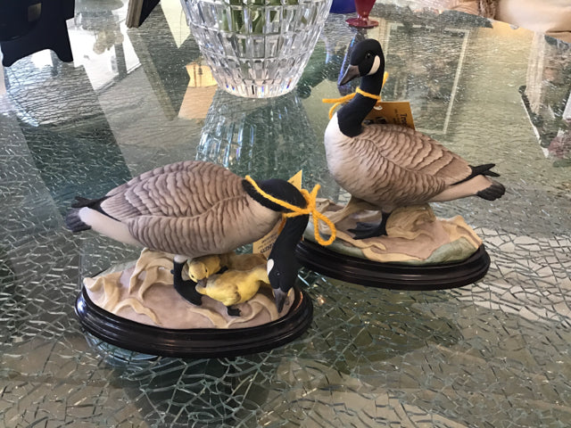 Pair of Canadian Geese Statues