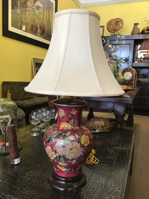 Round Hand Painted Lamp