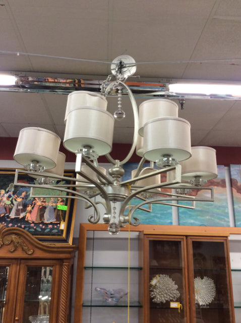 Silver 12 Arm Chandelier