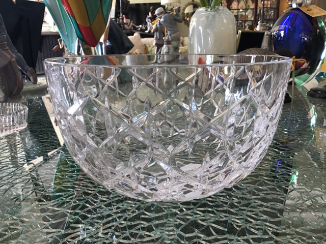 Tiffany Round Cut Glass Bowl