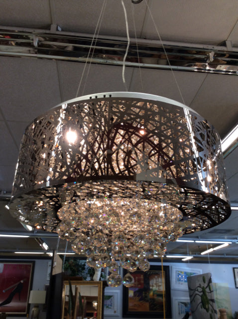 Chrome Chandelier With Crystals