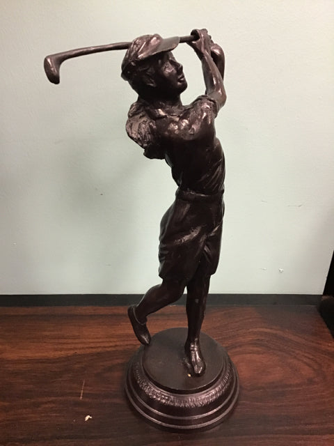 Statues Maitland Smith Girl Golfing 12""
