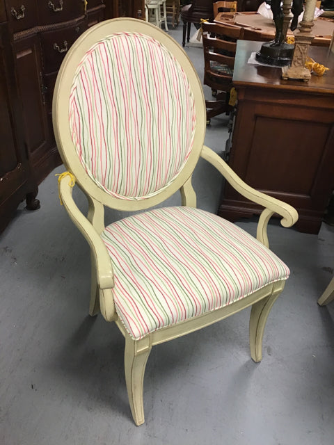 Drexel Dining Room Chair With Striped Fabric