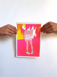 'Girl on fire' Screenprint