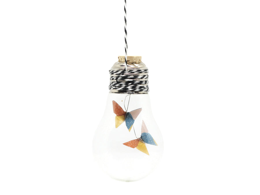 Ampoule Origami - Papillons