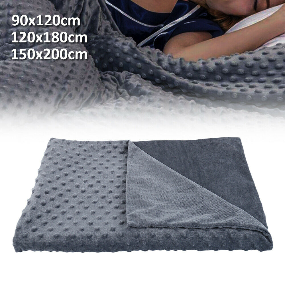 Winter Weighted Gravity Blanket Heavy Sensory Kid Adult Sleep Reduce Anxiety