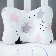 Load image into Gallery viewer, Baby Nest Safety Pillow - Pink Stars