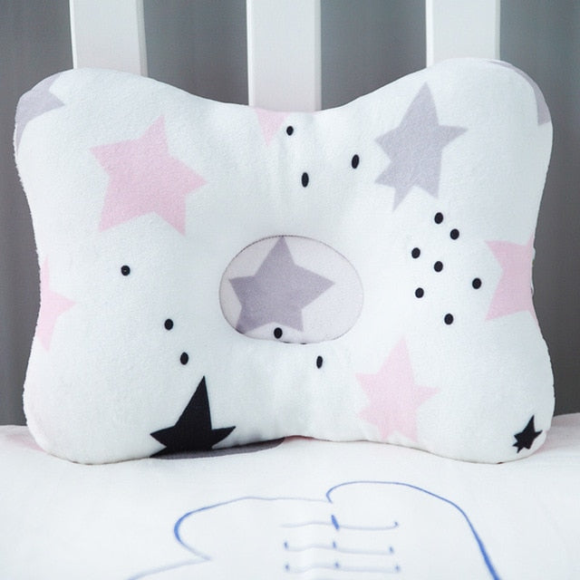 Baby Nest Safety Pillow - Pink Stars