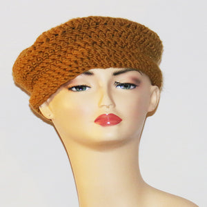 Queen Mustard Crochet Hat