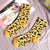 Leopard Print Crew Sock - Yellow