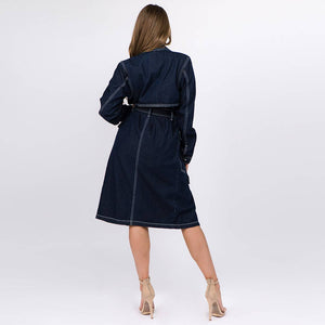 Denim Trench Coat at {price}