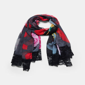 Be You Floral Rectangular Scarf