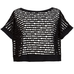Open Knit Boxy Top