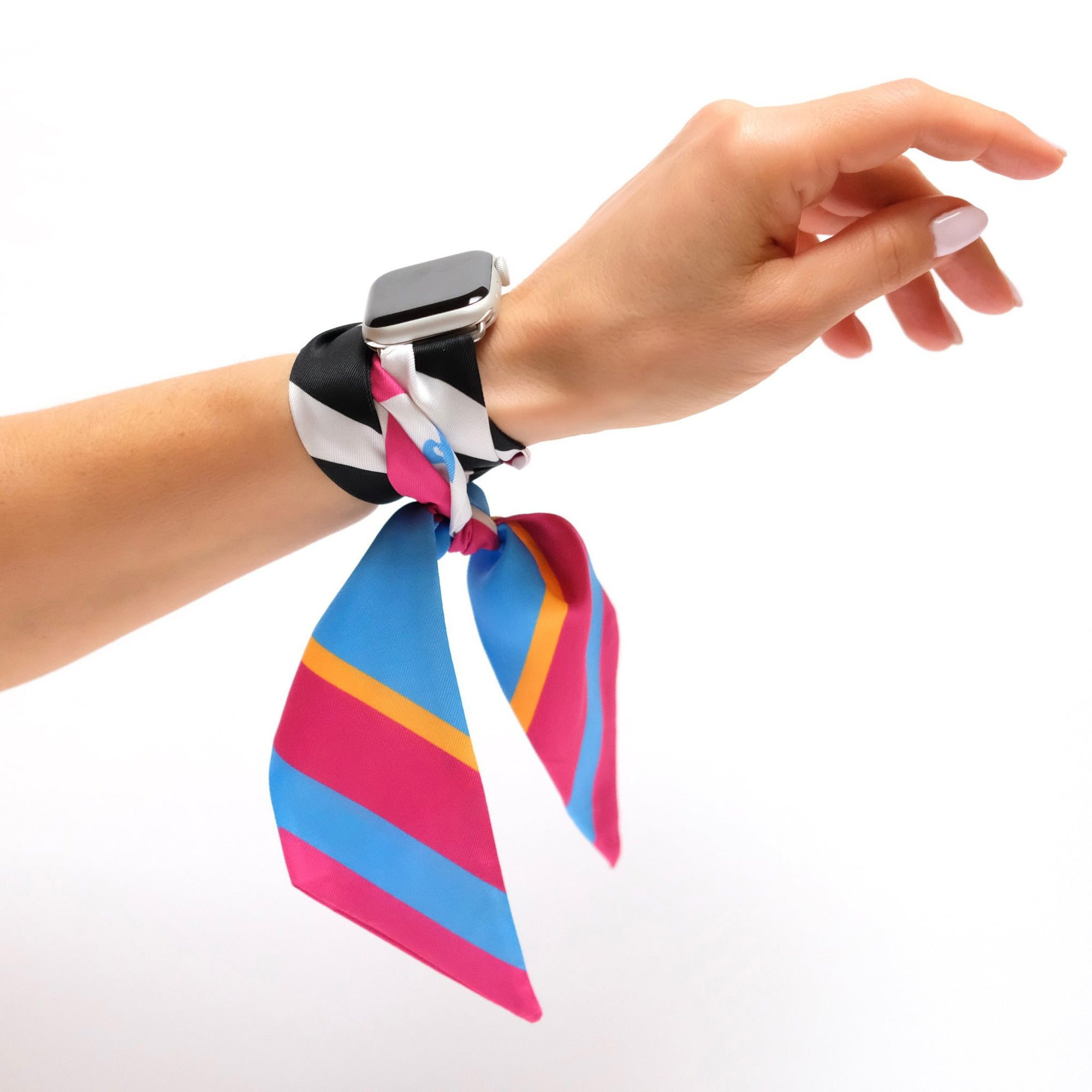 Wristpop - Atomic Pink Print - 100% Artificial Silk