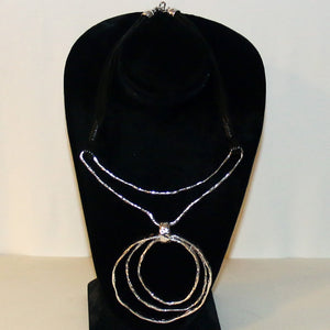 Silver Arc Style Choker Necklace