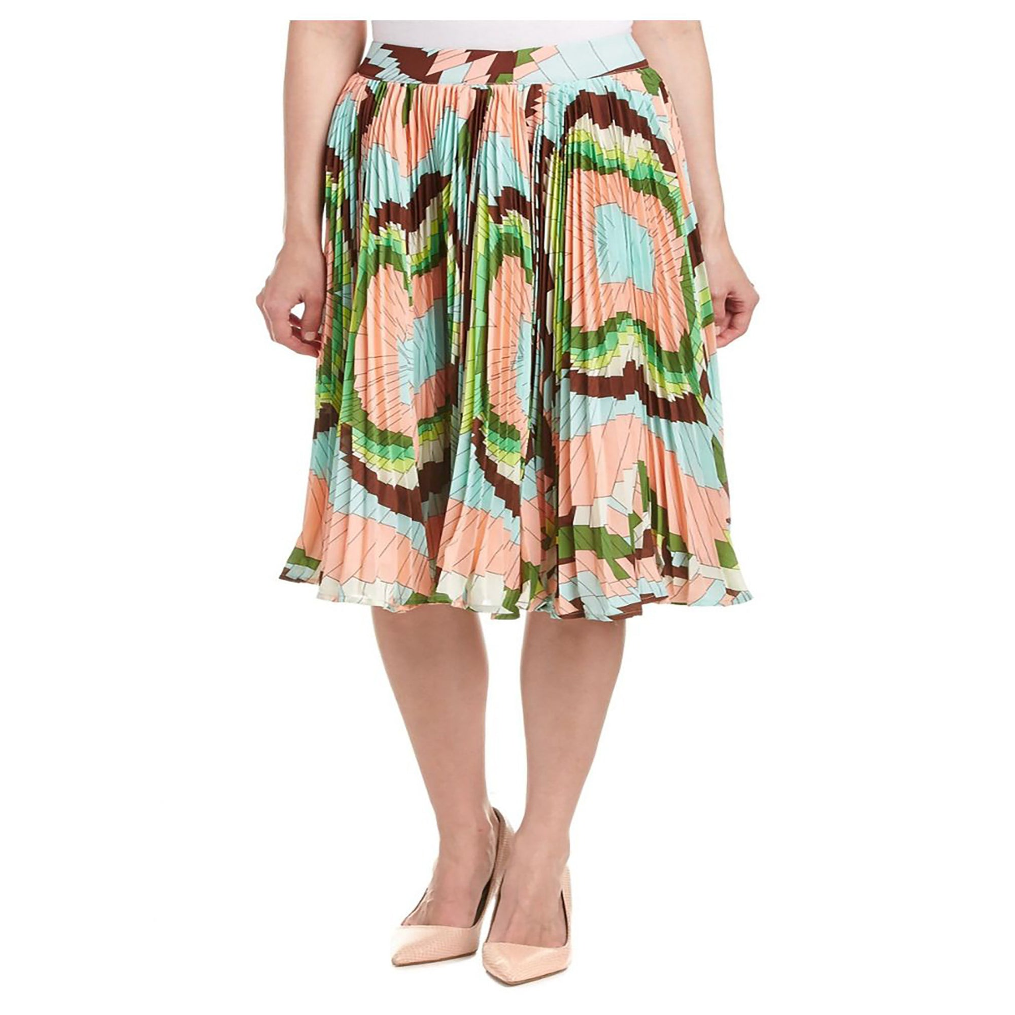 Printed Entire Pleats skirt
