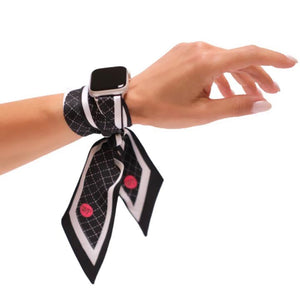 Wristpop - Black Rugby Stripe - 100% Artificial Silk