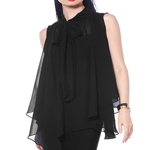Chiffon Tied Neck Top