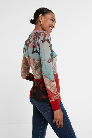 Slim Floral Long Sleeve T-Shirt