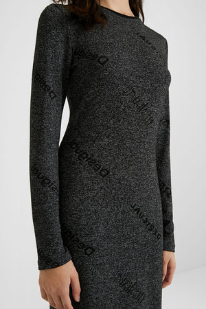 Slim Knit Dress - Desigual. logo